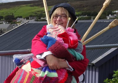 Renita Boyle~Spinning Yarns during ShetlandArts Residency